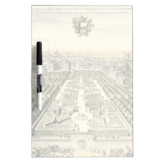 Aerial View of Formal Garden by Eric Dahlbergh Dry Erase Whiteboards