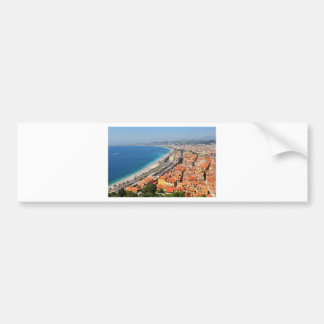 Aerial view of French Riviera in Nice, France Bumper Sticker