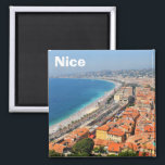 """Aerial view of French Riviera in Nice, France Magnet<br><div class=""""desc"""">Aerial view of French Riviera in Nice,  France</div>"""