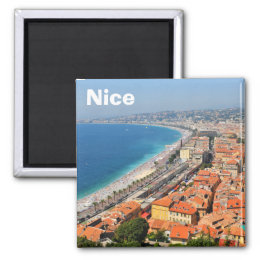Aerial view of French Riviera in Nice, France Magnet
