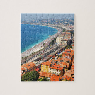 Aerial view of French Riviera in Nice, France Puzzle