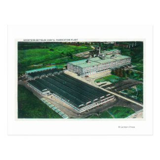 Aerial View of Goodyear-Zeppelin Fabrication Postcard