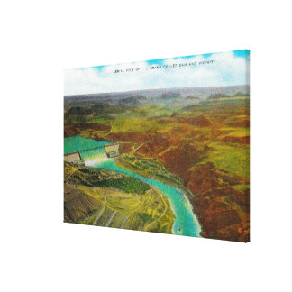 Aerial view of Grand Coulee Dam Gallery Wrapped Canvas