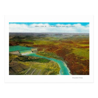 Aerial view of Grand Coulee Dam Post Card