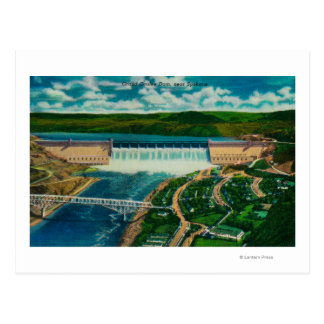 Aerial View of Grand Coulee Dam Postcard