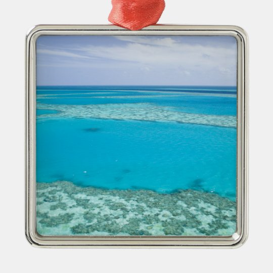 Aerial view of Great Barrier Reef by Metal Ornament