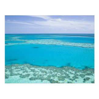 Aerial view of Great Barrier Reef by Postcard