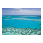 Aerial view of Great Barrier Reef by Poster
