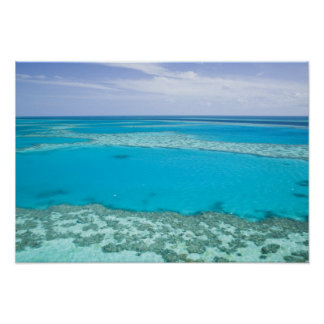 Aerial view of Great Barrier Reef by Posters