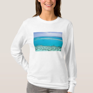 Aerial view of Great Barrier Reef by T-Shirt