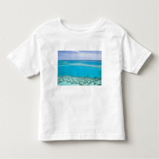 Aerial view of Great Barrier Reef by Toddler T-shirt
