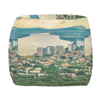 Aerial View of Guayaquil Outskirt from Plane Outdoor Pouf