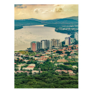 Aerial View of Guayaquil Outskirt from Plane Postcard