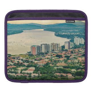 Aerial View of Guayaquil Outskirt from Plane Sleeve For iPads