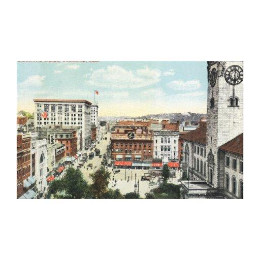 Aerial View of Harrington Corner Canvas Print