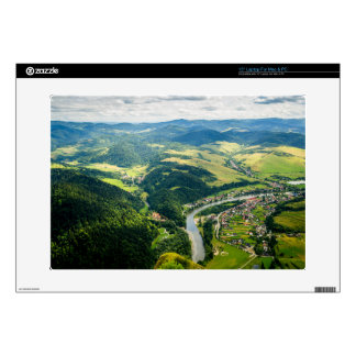 """Aerial View Of Hills Landscape With River 15"""" Laptop Decal"""