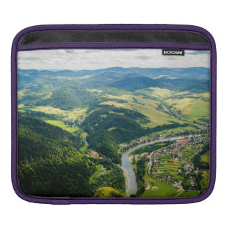 Aerial View Of Hills Landscape With River Sleeve For iPads