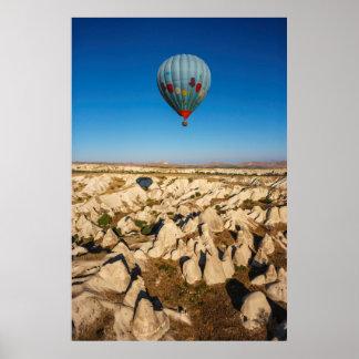 Aerial View Of Hot Air Balloon, Cappadocia Poster