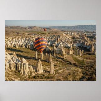 Aerial View Of Hot Air Balloons, Cappadocia 2 Poster