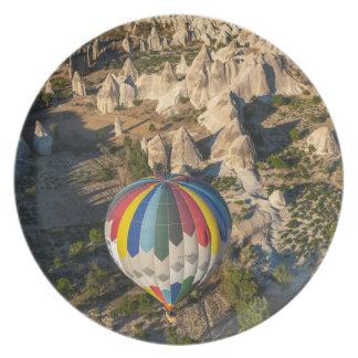 Aerial View Of Hot Air Balloons, Cappadocia Dinner Plate