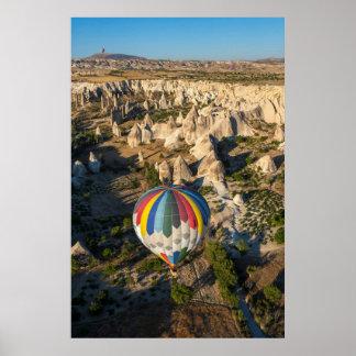 Aerial View Of Hot Air Balloons, Cappadocia Poster