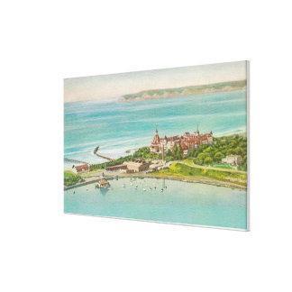 Aerial View of Hotel del Coronado Canvas Print