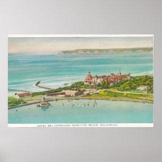 Aerial View of Hotel del Coronado Poster