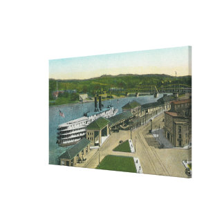 Aerial View of Hudson Navigation Dock Canvas Print