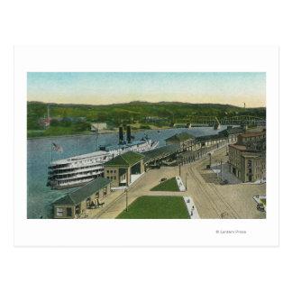 Aerial View of Hudson Navigation Dock Postcard