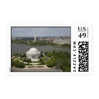 Aerial view of Jefferson Memorial Stamps