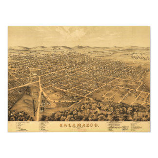 Aerial View of Kalamazoo, Michigan (1874) Card