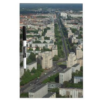 Aerial view of Karl Marx Allee in Berlin Germany Dry-Erase Boards