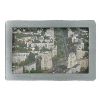 Aerial view of Karl Marx Allee in Berlin Germany Rectangular Belt Buckle