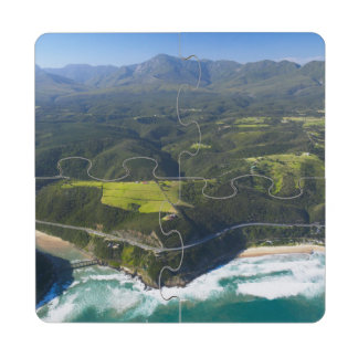 Aerial View Of Keurbooms River, Garden Route Puzzle Coaster