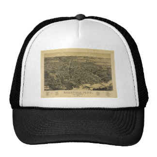 Aerial View Of Knoxville Tennessee from 1886 Trucker Hat