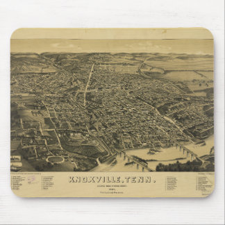 Aerial View Of Knoxville Tennessee from 1886 Mouse Pad