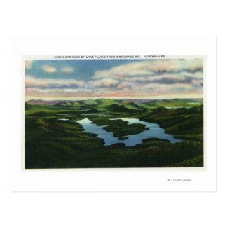 Aerial View of Lake Placid Postcard