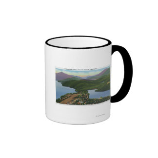Aerial View of Lakes Placid and Mirror Coffee Mug