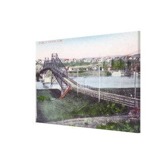 Aerial View of Lewiston BridgeLewiston, ID Canvas Print