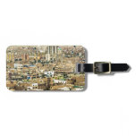 Aerial View of Lima Outskirts, Peru Luggage Tag