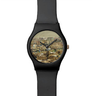 Aerial View of Lima Outskirts, Peru Wrist Watch