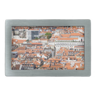 Aerial view of Lisbon, Portugal Belt Buckle