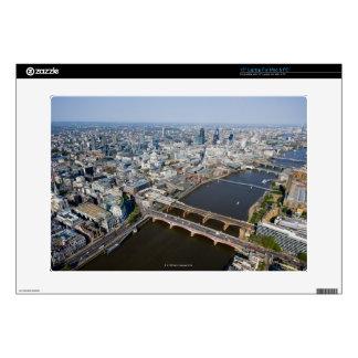 "Aerial View of London 15"" Laptop Skins"