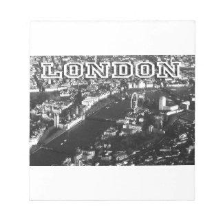 Aerial view of London Memo Note Pad
