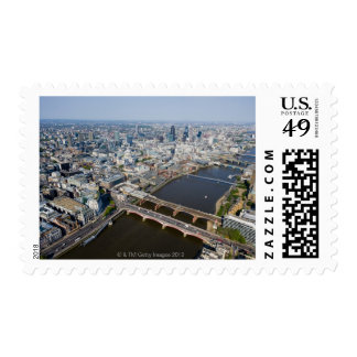 Aerial View of London Postage Stamp