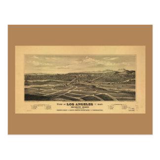 Aerial View of Los Angeles, California (1877) Postcard