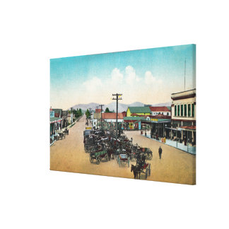 Aerial View of Lower Main StreetPetaluma, CA Stretched Canvas Prints