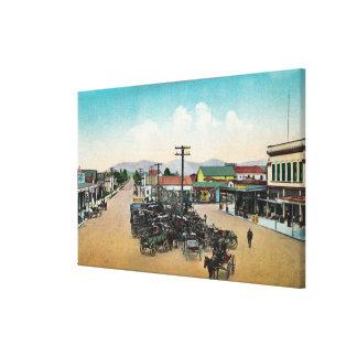 Aerial View of Lower Main StreetPetaluma, CA Canvas Print
