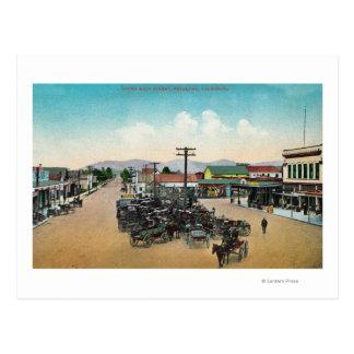 Aerial View of Lower Main StreetPetaluma, CA Postcard
