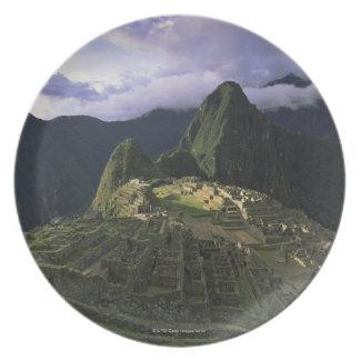 Aerial view of Machu Picchu, Peru Melamine Plate